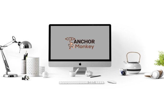 anchor monkey logo on desktop.