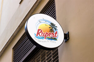 Rupert Taxi Services and Tours Logo designed by anchor monkey